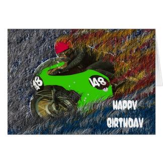 HAPPY BIRTHDAY MOTORCYCLE MOTOR BIKE CARD