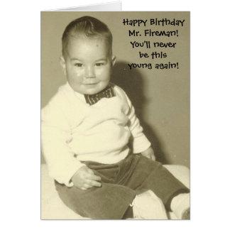 Happy Birthday Mr Fireman Greeting Card