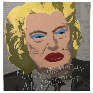 Happy Birthday Mr. President Napkin