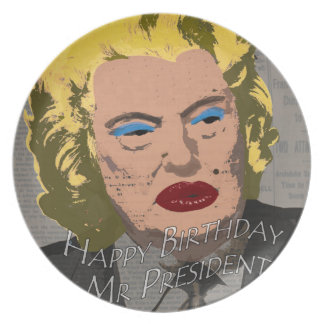 Happy Birthday Mr. President Plate