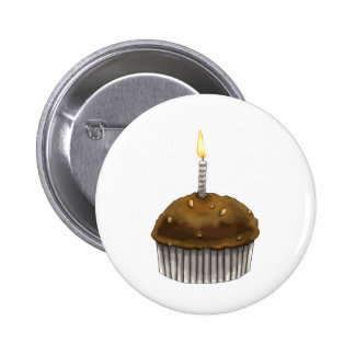 Happy Birthday Muffin 2 Inch Round Button