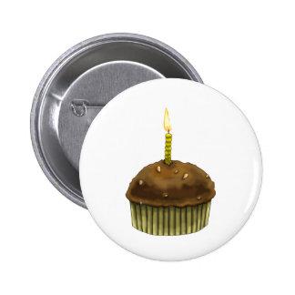 Happy Birthday Muffin 2 Inch Round Button