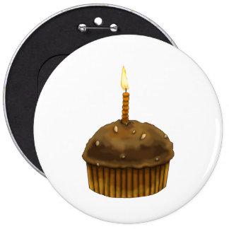Happy Birthday Muffin 6 Inch Round Button