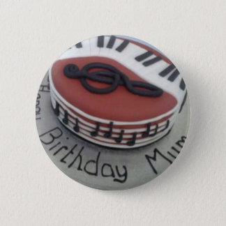 Happy birthday mum cake 2 inch round button