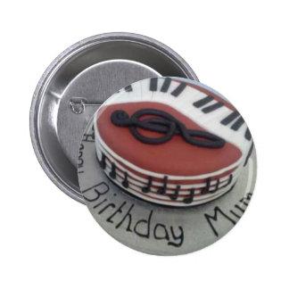 Happy birthday mum cake 2 inch round button