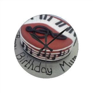 Happy birthday mum cake clock