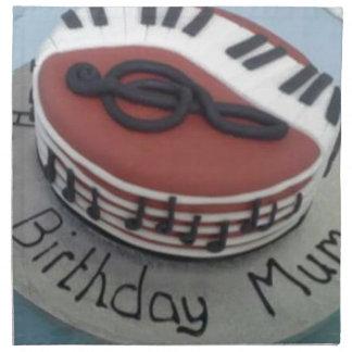 Happy birthday mum cake printed napkins