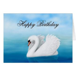 Happy Birthday Mute Swan Card