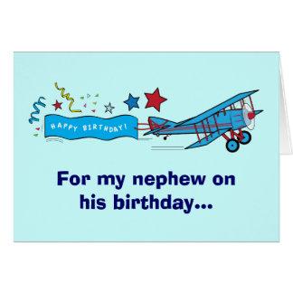 Happy Birthday Nephew Airplane Card