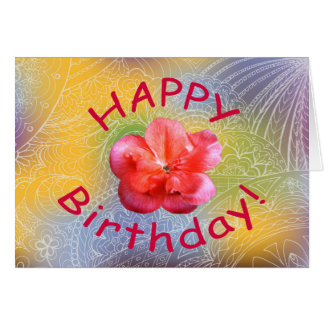 happy birthday network to flower card
