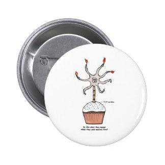 Happy Birthday Neuron Cupcake 2 Inch Round Button