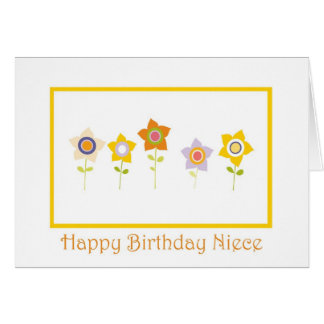 Happy Birthday, Niece, flowers Card