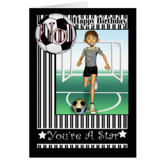 Happy Birthday, No1 Soccer, Football Card