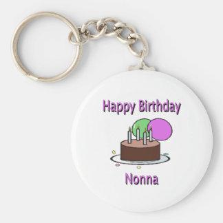 Happy Birthday Nonna Italian Grandma Birthday Desi Keychains
