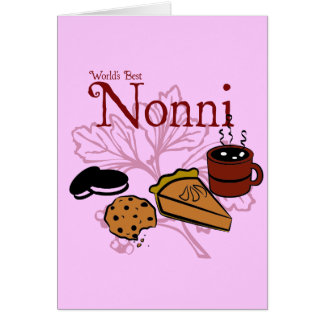 Happy Birthday Nonni Greeting Card