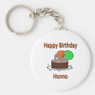 Happy Birthday Nonno Italian Grandpa Birthday Desi Key Chains