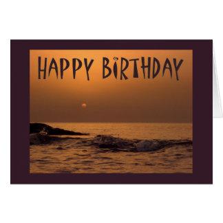 Happy birthday - Ocean sunrise Card