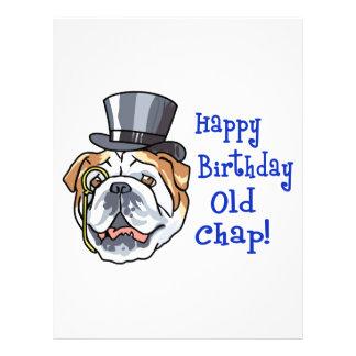 Happy Birthday Old Chap Custom Letterhead