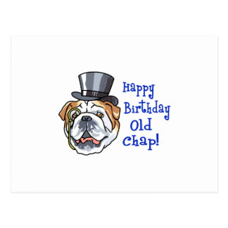 Happy Birthday Old Chap Postcard
