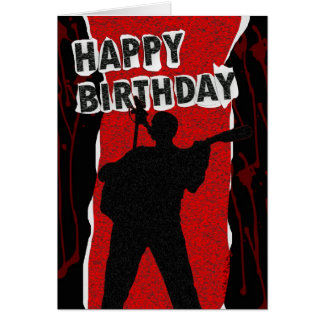 Happy Birthday Old Punk Style Card