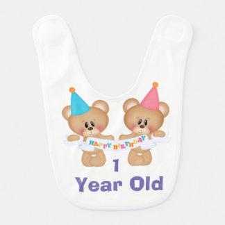 Happy Birthday One Year Old Bib