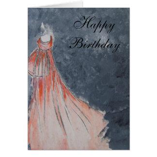 Happy Birthday (orange dress) Card