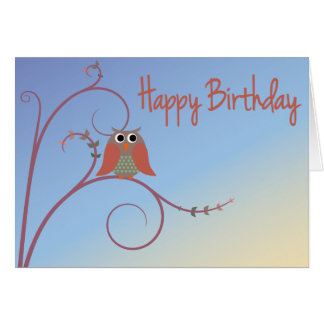 Happy Birthday - Owl Card