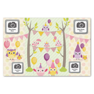 Happy Birthday Owls Tissue Paper