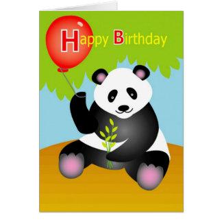 Happy birthday panda cards happy birthday panda greeting cards happy birthday panda card bookmarktalkfo Choice Image