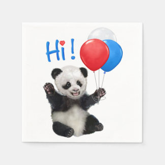 HAPPY BIRTHDAY PANDA PAPER NAPKIN
