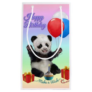 HAPPY BIRTHDAY PANDA SMALL GIFT BAG