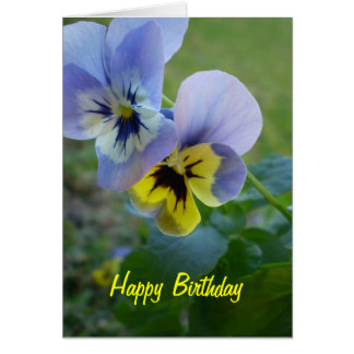 Happy Birthday Pansies Card