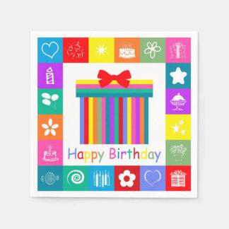 Happy Birthday Paper Napkin