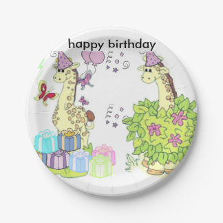 happy birthday paper plate