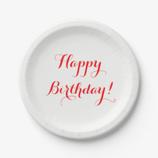 Happy Birthday Paper Plates