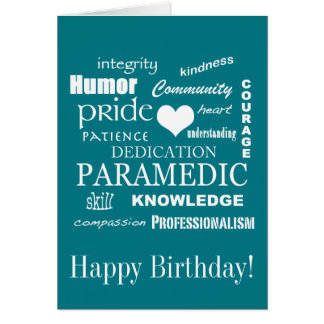 Happy Birthday/Paramedic/EMT Card