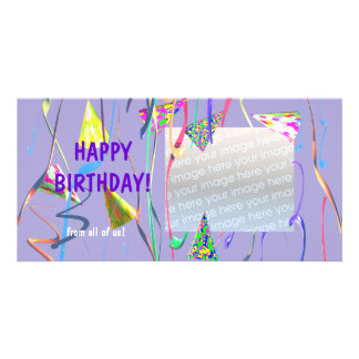 Happy Birthday Party Hats Card