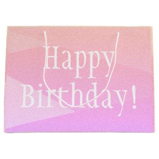 Happy Birthday Pastel Design Print Birthday Bag