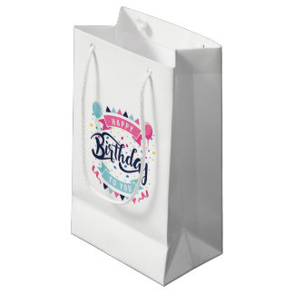 Happy Birthday Pattern Gift Bags