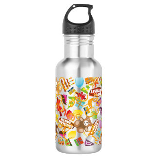 Happy Birthday Pattern Illustration 532 Ml Water Bottle