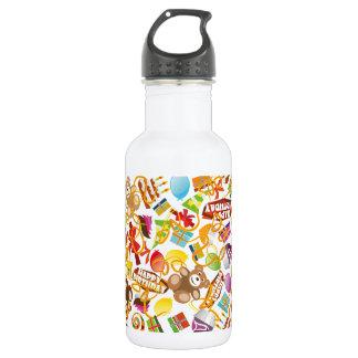 Happy Birthday Pattern Illustration 532 Ml Water Bottle