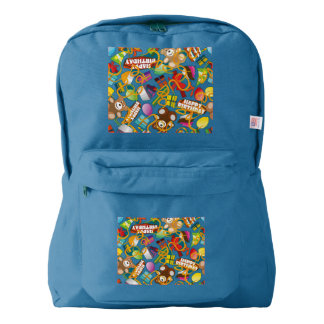 Happy Birthday Pattern Illustration Backpack