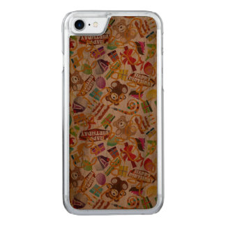 Happy Birthday Pattern Illustration Carved iPhone 8/7 Case