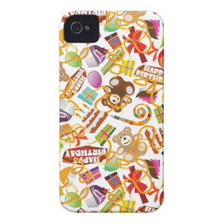 Happy Birthday Pattern Illustration Case-Mate iPhone 4 Cases