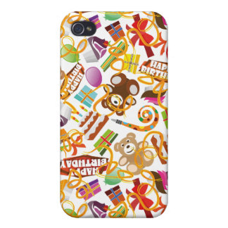 Happy Birthday Pattern Illustration Cases For iPhone 4