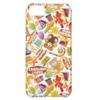 Happy Birthday Pattern Illustration Cover For iPhone 5C