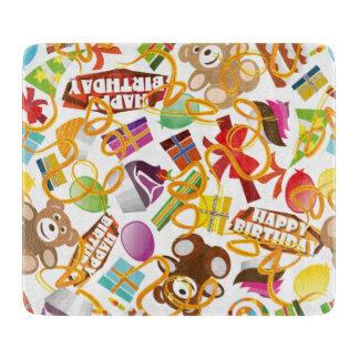 Happy Birthday Pattern Illustration Cutting Board