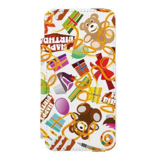 Happy Birthday Pattern Illustration Incipio Watson™ iPhone 5 Wallet Case