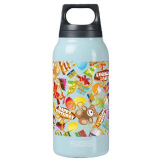 Happy Birthday Pattern Illustration Insulated Water Bottle