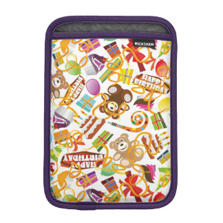 Happy Birthday Pattern Illustration iPad Mini Sleeve